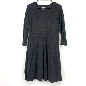 Calvin Klein Gray Cable Knit Sweater Dress